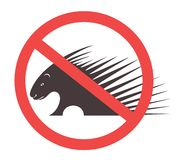 Stop Porcupine Sign Stock Photography