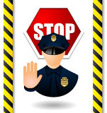 Stop poster Stock Photo