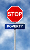 Stop. Poverty Royalty Free Stock Image