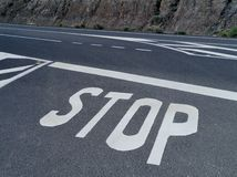Stop for a priority road Stock Image