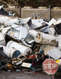 Stop produce waste! Old appliency recycling facility Stock Photos
