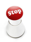 Stop push button Royalty Free Stock Photo