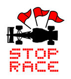 Stop race red flag Stock Photos