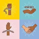 Stop racism image Royalty Free Stock Photo