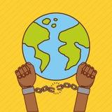 Stop racism image. Freedom stop racism image vector illustration design vector illustration