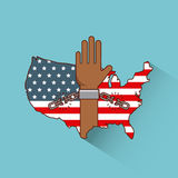 Stop racism image Stock Photo