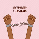 Stop racism image. Hand and chain stop racism image vector illustration design vector illustration