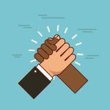 Stop racism image. Hands holding stop racism image vector illustration design royalty free illustration