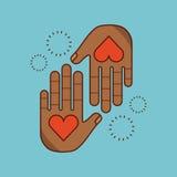 Stop racism image. Hands stop racism image vector illustration design stock illustration