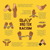Stop racism image. Infographic say no to stop racism image vector illustration design vector illustration