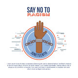Stop racism image. Infographic say no to stop racism image vector illustration design royalty free illustration
