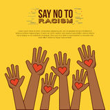 Stop racism image Royalty Free Stock Photography