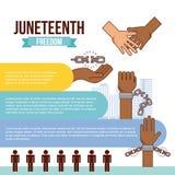 Stop racism image. Juneteenth freedom day stop racism image vector illustration design stock illustration