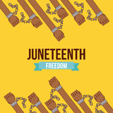 Stop racism image. Juneteenth freedom day stop racism image vector illustration design royalty free illustration