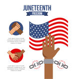 Stop racism image. Juneteenth freedom day stop racism image vector illustration design vector illustration
