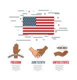 Stop racism image. Juneteenth stop racism image vector illustration design royalty free illustration