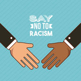 Stop racism image. Say no to stop racism image vector illustration design vector illustration
