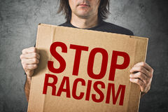 Stop racism message Royalty Free Stock Photo
