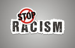 Stop racism poster, beckdrop, banner. Suitable for protest poster royalty free illustration