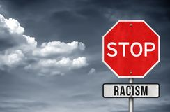 Stop Racism. Road sign concept royalty free illustration