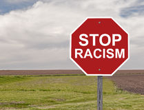Stop Racism Sign Royalty Free Stock Photos