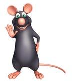 stop   Rat cartoon character Royalty Free Stock Photo