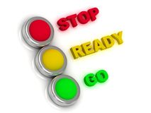 Stop, ready, go. Traffic lights Royalty Free Stock Image