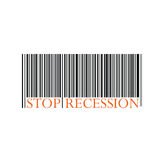 Stop recession with bar code vector Stock Image
