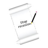 Stop recession color vector Royalty Free Stock Photos