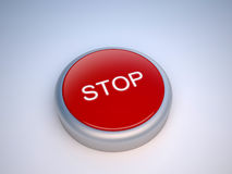 Stop red button. Press the red emergency button if Stock Photo