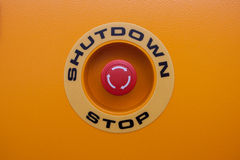 Stop red button Royalty Free Stock Photography