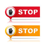 Stop vector illustration
