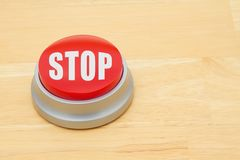 A Stop red push button Royalty Free Stock Photo