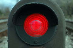 Stop The Red Train 2. Railroad traffic light Royalty Free Stock Image