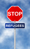Stop. Refugees Royalty Free Stock Images