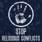Stop religious conflicts vector sign vector illustration