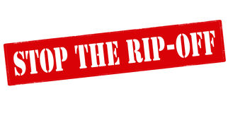 Stop the rip off Royalty Free Stock Photography