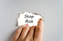 Stop risk text concept Royalty Free Stock Photo