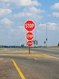 Stop on road Stock Image