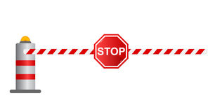 Stop road barrier,  Stock Photo