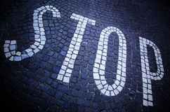 Stop road Stock Image
