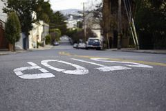 Stop road marking Royalty Free Stock Photo