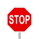 Stop - road sign Royalty Free Stock Image