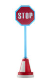Stop road sign. Isolated in the white background royalty free stock photo