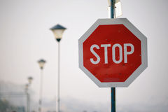 Stop road sign Stock Images