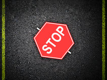 Stop - road sign Stock Photo