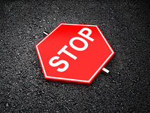 Stop - road sign Stock Photos