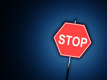 Stop - road sign Stock Photography