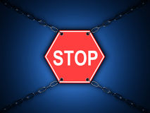 Stop - road sign Stock Image