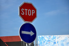Stop road sign Royalty Free Stock Image